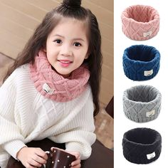 2017 Winter Spring Autumn Cotton Baby Scarf Children Girls Boys Kintted Wool O-Scarves Chidren Outing Protect Kint Solid Color Price: USD Winter Kids, Baby Winter, Fashion Kids, Kids Girls, Baby Kids, Wholesale Scarves, Snood Scarf, Girls Season, Baby Scarf