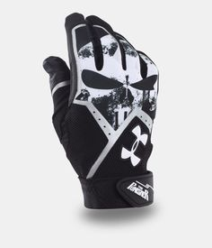 Men's UA Punisher Clean-Up Batting Gloves, Black