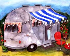 The+GetAway+Airstream+Art+Print+by+Mary+Sundstrom+by+ohartymary,+$15.00