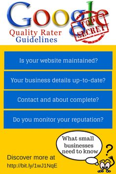 Leaked - Google Quality Rater Guidelines for 2014. Is your local business website up to par? Read an overview of the guidelines here...