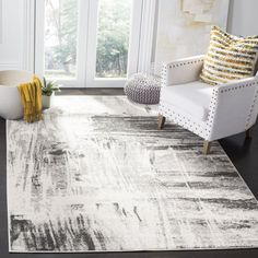 Safavieh Adirondack Genevieve Vintage Boho Oriental Rug (Ivory/Grey x Square), Gray Mode Statements, Fashion Statements, Shabby, Lodge Style, Accent Rugs, Ivoire, Grey Rugs, Online Home Decor Stores, Online Shopping