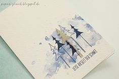 Papierglück: Weihnachten 2017 # 4 – Tatoo for Noel Christmas Greeting Cards, Christmas Greetings, Holiday Cards, Christmas 2017, Xmas Theme, Card Making Templates, Paint Cards, Christmas Drawing, Winter Cards