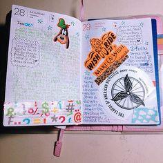 #Hobonichi 09.28-29.13 #powerpuffkay #diary #journal #planner #techo #disney #goofy #decotape #wishride #nebraska #iowa #bike #biking #handwriting #kawaii #colorful #cute