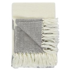 Grey and White Soft Knit Throw for £19.99 #fabfind