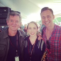 """Did a workshop with Rodney J Crowell yesterday at Wheatland Music Fest & look who joined us for a tune! Tom Hiddleston"""