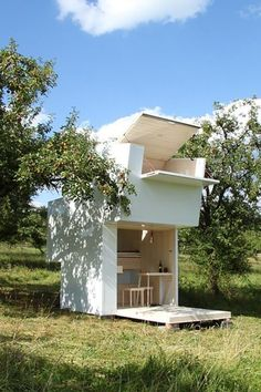 "SHIPPABLE DIGS – Spontaneous travelers, add one more thing to your packing list. The POD-iDladla by Clara da Cruz Almeida folds up into a 24-square-meter mailable ""box."" Once your package arrives, just pop up your home away from home. Click through to see the rest of the gallery and for more tiny houses."