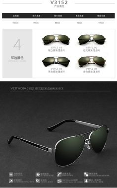 dc9f5dc1073 awesome Brand Hot 2015 New Fashion Men s 100% UV400 Polarized Sunglasses  Driving Aviator Mirrors Eyewear