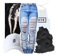 """Untitled #298"" by gabb-slayy ❤ liked on Polyvore featuring Victoria's Secret and NIKE"