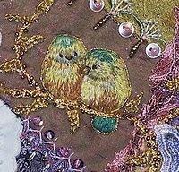 birds on felt tute-Gerry Krueger