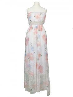 Damen Bandeau Kleid aus Seide, weiss von Diana bei www.meinkleidchen.de