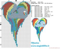 Rainbow Dash heart cross stitch pattern 40x64 9 colors (click to view)