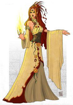 Druid elf by ~WhiteElzora on deviantART