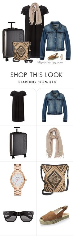 """Perfect Travel Look"" by fiftynotfrumpy on Polyvore featuring Max Studio, prAna, Calvin Klein, Caslon, Kate Spade, Lucky Brand, Vero Moda and French Connection"