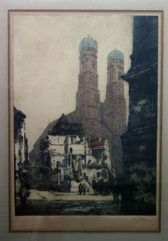 LUIGI KASIMIR ORIGINAL ARTISTS PROOF PENCIL S/N ETCHING VTG GALLERY LABEL c.1915 #Realism
