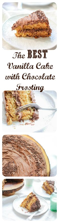 So fluffy, vanilla-y, and chocolate-y! Perfect in every way! It's seriously the best vanilla cake and the best chocolate frosting I've ever had.