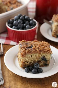 Cinnamon Swirl Blueberry Coffee Cake from @akitchenaddict