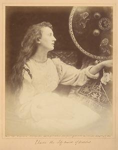 Julia Margaret Cameron, Elaine the Lily - Maid of Astolat, 1874