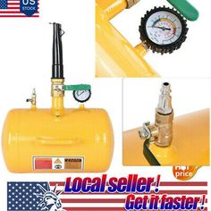 Black 8L PORTABLE TIRE Bead Seater AIR Blaster Tool Trigger Seating Inflator US