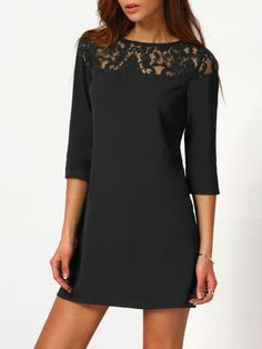 dress161205725 1 3 4 Sleeve Dress, Mini Dress With Sleeves, Dress P, Lace  Dress 486dcce144f