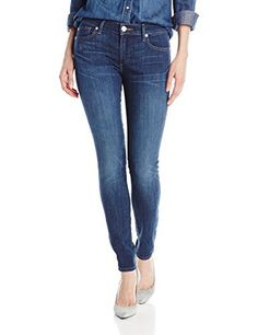 True Religion Women's Halle No Flap (Tobacco Stitch) Jeans Model: WB092VK7 CUMD, Color: Blues, Leg Style: Skinny, Outer Material Type: Denim, Product Subtype Clothing: Pants, Seasons of the product: Autumn-Winter, Style: Super Skinny, Material: 84% Cotton 14% Polyester 2% Spandex, Base Name: Halle, Store SKU: #23735Style:Slim