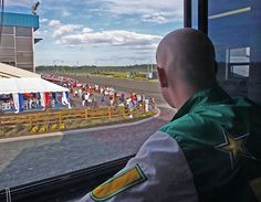 Driver Jody Jamieson at Mohawk Raceway