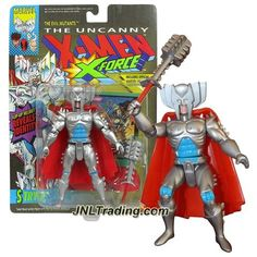 "ToyBiz Year 1992 The Uncanny X-MEN X-Force 5"" Tall Action Figure : The Evil Mutants STRYFE with Helmet, Energy Mace & Marvel Universe Trading Card"