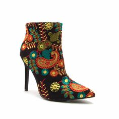 Embroidered Fashion Boots Ankle Floral 2018Shoespie Booties In 1KTlFc3J