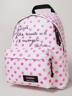 An Eastpack bag, 16 designers and as many works of art The Elio Fiorucci Polka Dot Bag - An E Jansport Backpack, Backpack Bags, Fashion Backpack, Back To School Highschool, Back To School Outfits, Sac College, Eastpak Bags, Disney Handbags, Polka Dot Bags