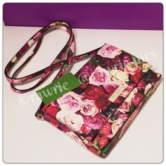 "New Kate Spade floral roses Shoulder Bag 100% authentic. Multiple roses print with 14-karat light gold plated hardware. One inside slip pocket. Strap with 21"" drop. Measures 7.5"" x 5.25"". Brand new with tags. Comes from a pet and smoke free home. kate spade Bags Crossbody Bags"