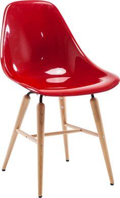 KARE Design - Kunststoffstühle -Stuhl Forum Wood Red - versandkostenfrei jetzt bei KARE.de bestellen