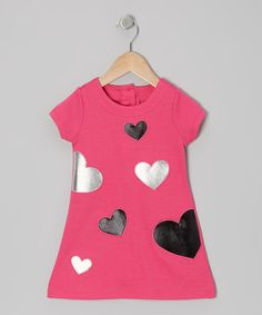 $19. Take a look at this Pink Heart Shift Dress - Infant & Toddler by Nannette on #zulily today!