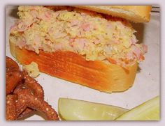 When it comes to ham salad this is top of the list for me....I love this version and ever since I tried some at a local Amish store I had to learn how to make it. It is a simple recipe and can be seasoned up if you want. I have altered a recipe I found in an Amish newspaper and my main addition is the horsey sauce, which I love.