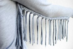 TB post: Trash To Couture: DIY woven fringe top