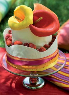 Mexican fiesta cake | Here is a stunningly colourful Mexican fiesta cake to go with any Mexican-style birthday party, for old or young.