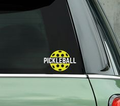 Whether looking for a great gift for a pickleball player or fabulous on your own car this fun Pickleball decal is perfect! This fun 2 color