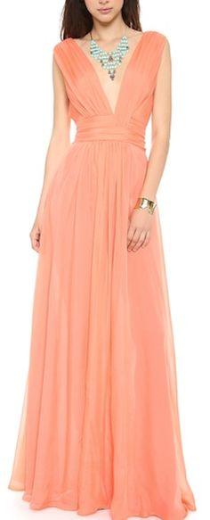 beautiful #coral chiffon dress http://rstyle.me/n/haqtzr9te