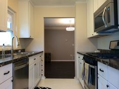Budget Friendly Galley Kitchen Remodel By BlankSpace LLC, Pittsburgh PA.