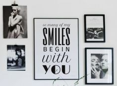 I like the layout of the pictures on the wall. #Love poster#wall decor#inspirational quote#typography#modern decor#love quote