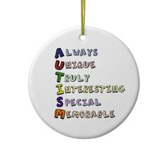 AUTISM CHRISTMAS TREE ORNAMENT from http://www.zazzle.com/autism+ornaments