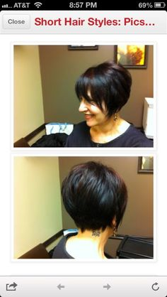 Short layered bob with bangs by katrina