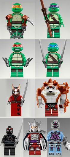 Teenage Mutant Ninja Turtles Lego. Those would be extra painful to step on, but my son would flip with joy of seeing lego tmnt's