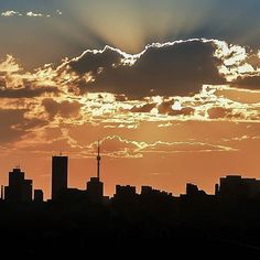 Instagram Johannesburg City, One And Only, South Africa, African, Clouds, Celestial, Sunset, Places, Gold