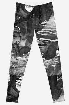 'gray black and white gradient, acrylic paint in monotype technique, abstract texture ' Leggings by EkaterinaP Gothic Leggings, Texture, People, Room Decor, Trends, Black And White, Gray, Abstract, Trending Outfits