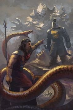 Oberyn Martell vs Gregor Clegane: Awesome Digital Painting by NickKalinin Recommended: A Game of Thrones: The Illustrated Edition Book One Available for sale, beginning on October 18, 2016, pre-order here http://amzn.to/2arMs9P
