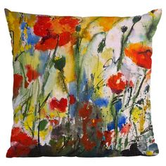 I pinned this Wildflower Poppies 1 Throw Pillow from the DENY Designs event at Joss and Main! $25.95