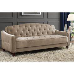 Novogratz Vintage Tufted Sofa Sleeper II, Multiple Colors - Walmart.com - Walmart.com Living Furniture, Sofa Furniture, Unique Furniture, Metal Furniture, Furniture Plans, Furniture Cleaning, Furniture Online, Luxury Furniture, Tufted Sofa