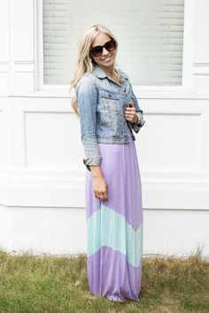 Lavender and Mint, Summer Maxi Dress