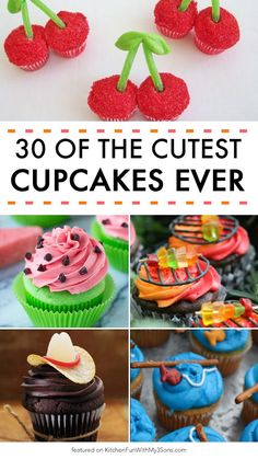 of the BEST Cupcake Ideas & Recipes! Over 30 of the BEST Cupcake Ideas & Recipes.everything from Kids party cupcakes to cream filled cupcakes.we've got your covered! - of the BEST Cupcake Ideas & Recipes! Cupcakes Design, Spring Cupcakes, Kid Cupcakes, Best Cupcakes, Fathers Day Cupcakes, Flamingo Cupcakes, Fathers Day Cake, Lemon Cupcakes, Strawberry Cupcakes