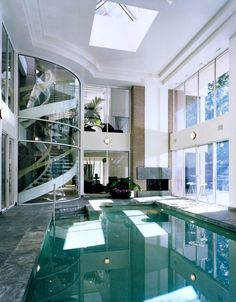10 Over-the-Top Indoor Swimming Pools Perfect For You #indoors #indoorswimming #indoorswimmingpools #swimmingpools #interiors #swimming