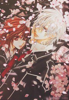 It's so peaceful. Yuki and Zero Vampire Knight *:・゚✧*:・゚✧